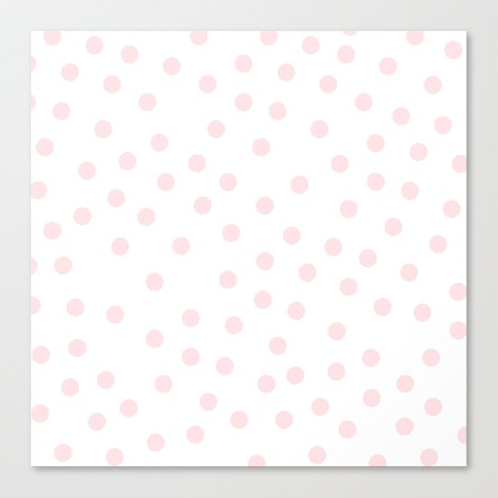 Simply Dots in Pink Flamingo Canvas Print