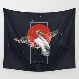 Cranes Japanese Kimono Wall Tapestry