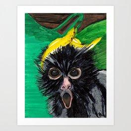 Banana Monkey  Art Print