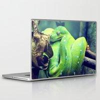 snake Laptop & iPad Skins featuring Snake by Yoshigirl