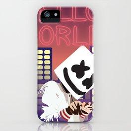 MARSHMELLO HELLO WORLD TOUR DATES 2019 RISOL iPhone Case