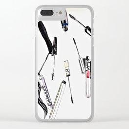 EyeLashes Mascara Clear iPhone Case