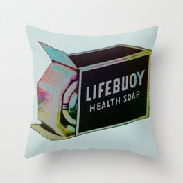 Soap Ad Print Throw Pillow