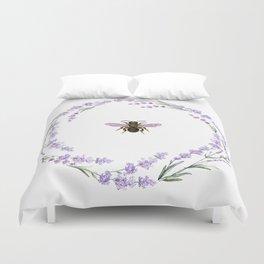 Lavender Bee Duvet Cover