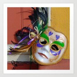 New Orleans Mardi Gras Mask Art Print