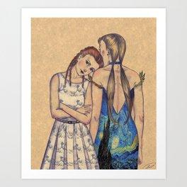 GIRLS IN DRESSES Art Print