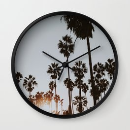 palm trees vi / venice beach, california Wall Clock