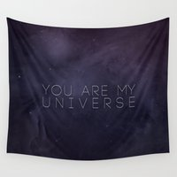 universe Wall Tapestries featuring Universe by Leah Flores