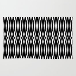Mod Slashes in Black and White Rug