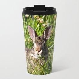 Young Cottontail Rabbit Travel Mug