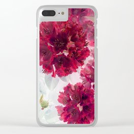 Solarized flowers with red petals Clear iPhone Case