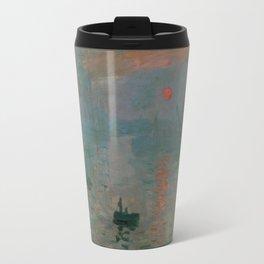 Claude Monet - Impression, Sunrise Travel Mug