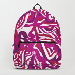 orbs, psychedelic pattern fuchsia Backpack