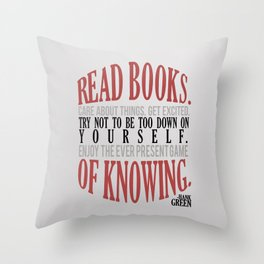 Care About Things Throw Pillow
