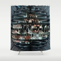 glass Shower Curtains featuring Glass Star by BeachStudio