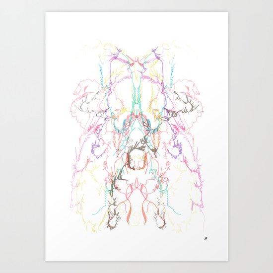 exploading Art Print