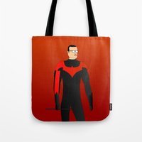 nightwing Tote Bags featuring Nightwing by pablosiano