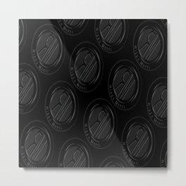 Riggo Monti Design #3 - Riggo Emblem Diagonal Pattern (Blk. Bkgrnd.) Metal Print
