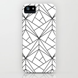 Black and White Geometric Pattern iPhone Case