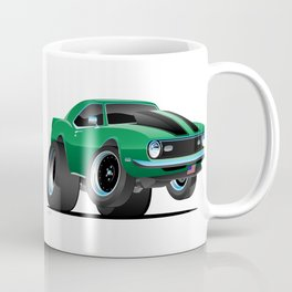 Classic American Muscle Car Cartoon Coffee Mug