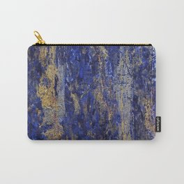"""""""Soul"""" Abstract textured art in blue & gold Carry-All Pouch"""