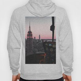 Helicopter Above New York City Skyline Hoody