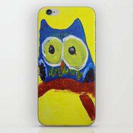 Owl Blue iPhone Skin