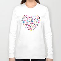 sticker Long Sleeve T-shirts featuring Sticker Frenzy by XOOXOO