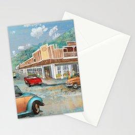 Vintage Lahaina Town Fine Art Decor Stationery Cards