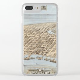 Galveston, Texas 1871 Clear iPhone Case
