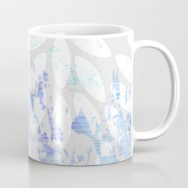 Abstract Splash Flowers Design Coffee Mug
