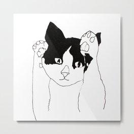 paws up cat Metal Print