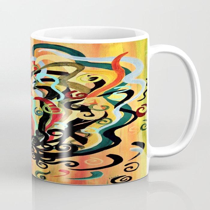 Curly Rooster Coffee Mug