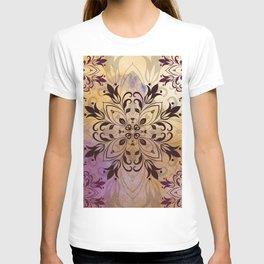 ELEGANT FLORAL WATERCOLOUR MANDALA T-shirt