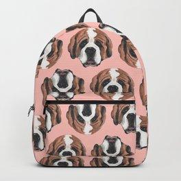 St. Bernard in Pink Backpack