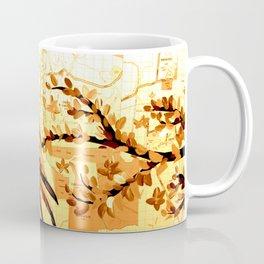 Owl on maps Coffee Mug
