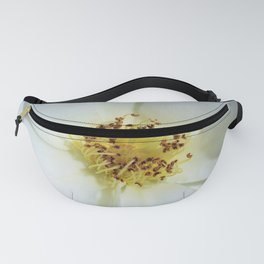 White Flower Close Up by Reay of Light Photography Fanny Pack