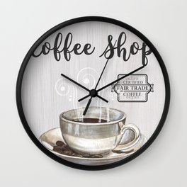Retro Coffee Shop 1 Wall Clock