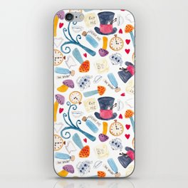 Alice in Wonderland - pattern iPhone Skin