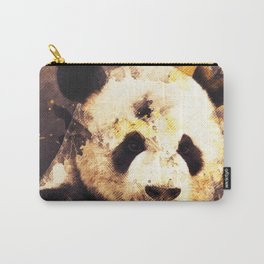 Panda Painting, Panda Mixed Media, Panda Bear, Panda Animal, Pandas Art, Panda Print, Best Panda Carry-All Pouch