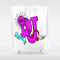 dj Shower Curtains featuring DJ by Christa Bethune Smith