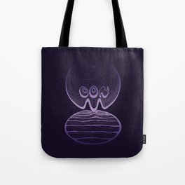 Moon Typography - Ultra Violet Tote Bag