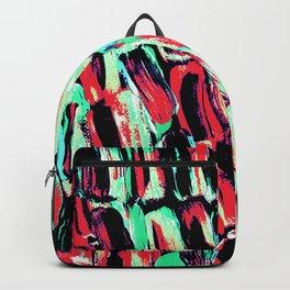 Teal Red Dreams of Sugarcane Backpack