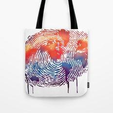 global map finger print Tote Bag