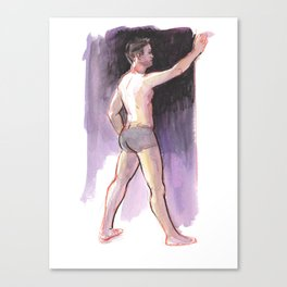 JAMES, Semi-Nude Male by Frank-Joseph Canvas Print