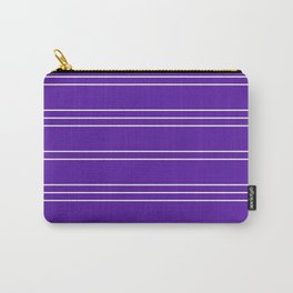 Simple Lines Pattern pu Carry-All Pouch