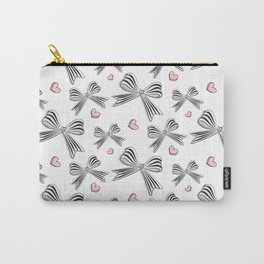 Pink bow heart Carry-All Pouch