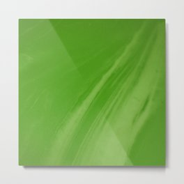 Blurred Emerald Green Wave Trajectory Metal Print