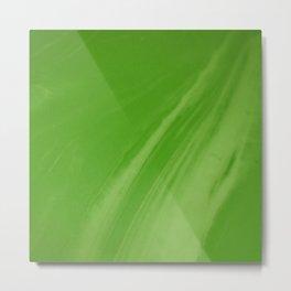 Blurred Emerald Green Wave Trajectory Metal Print