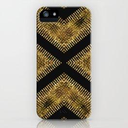 Black Gold | Tribal Geometric iPhone Case